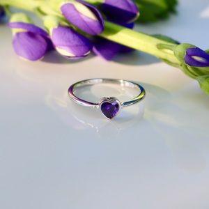 Jewelry - ♥️💍 6mm Dainty Heart Shaped Amethyst CZ Ring